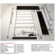 Ponteggio in alluminio Argo plus 8 campate con base - componenti