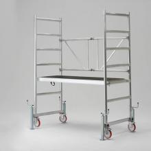 Ponteggio in alluminio Argo con base 7 campate con livellatori chiusi