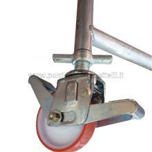 Ponteggio in alluminio Argo 6 campate con ruote autolivellanti particolare