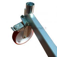 Ponteggio in alluminio Argo con base 3 campate particolare ruota