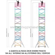 Ponteggio in alluminio Argo plus 9 campate con base - misure