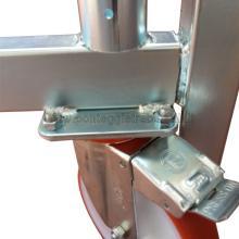 Ponteggio in alluminio Argo con base 3 campate particolare livellatore chiuso